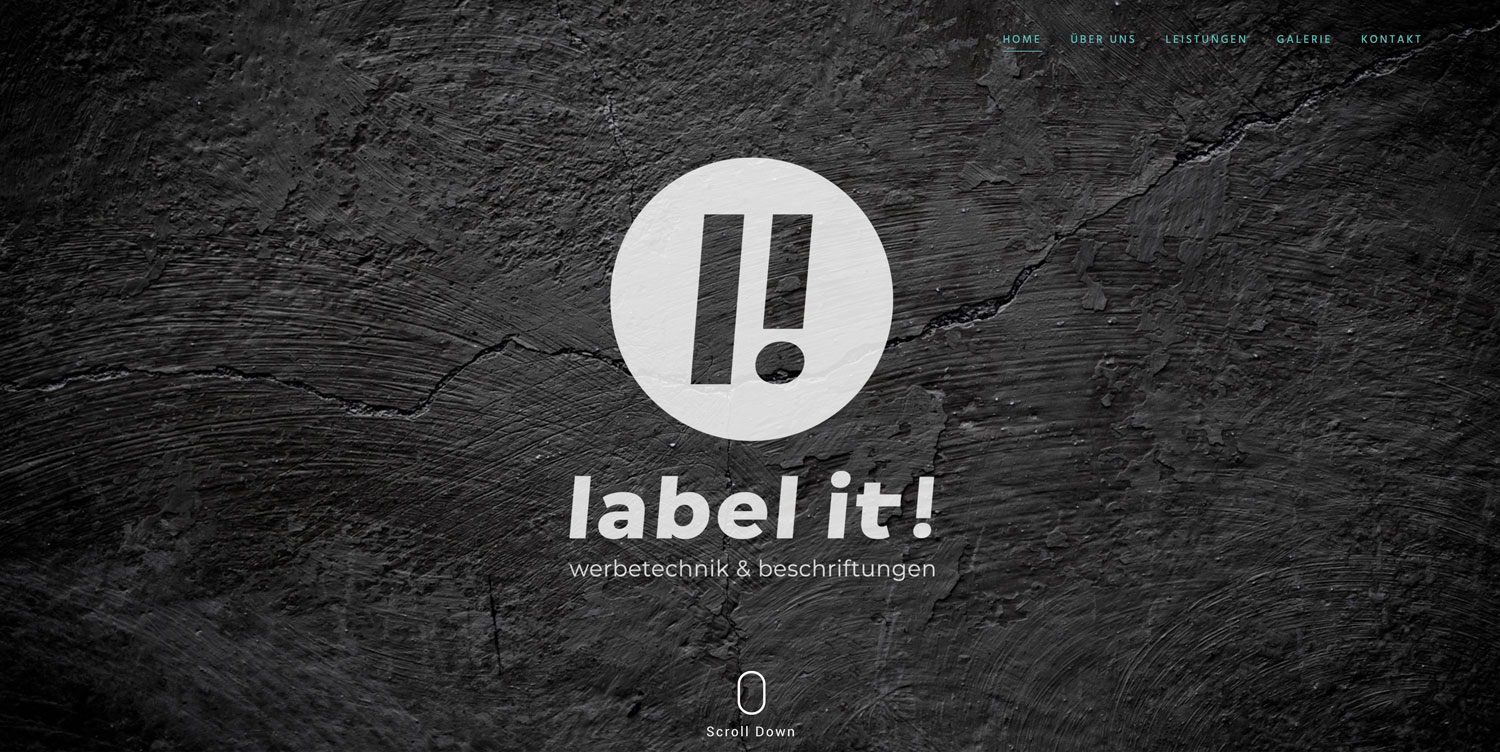 Label-it-Website-Vorlage