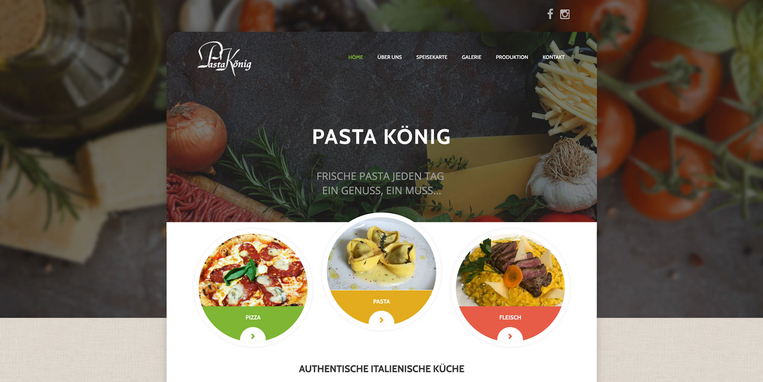 PastaKönig-website-vorlage